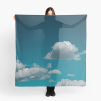 'Sky and clouds in summer.' Scarf by VanGalt