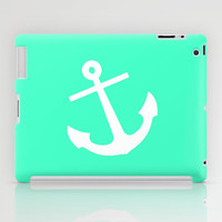Mint Anchor iPad Case by M Studio