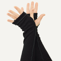 Arm Warmers in Midnight Black  - Recycled Merino Wool