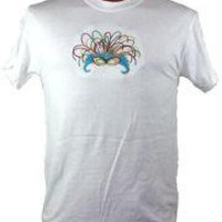 Short Sleeve T-Shirt w/ Mask Design Embroidery Small