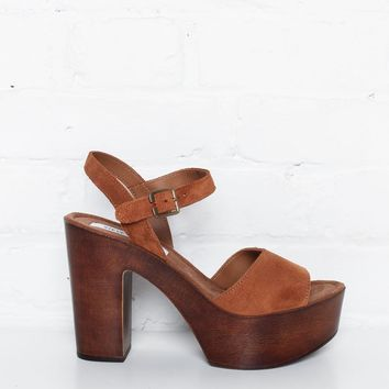 Steve Madden Lulla Platform Sandals - Brown