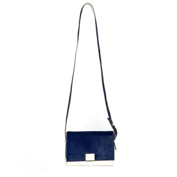 Karen Gallo Sebastian Calf Hair Shoulder Bag - Leather Bag - ShopBAZAAR