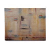 """Cathy Rodgers """"Library"""" Painting Abstract Birchwood Wall Art"""