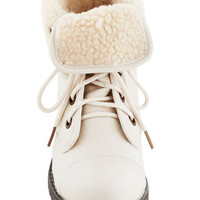 Logging Miles Boot in Ivory | Mod Retro Vintage Boots | ModCloth.com