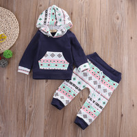 2pcs suit !! Newborn Toddler Kids Baby Boy Girl Outfit Clothes Hoodie T-shirt Tops+Pants Set