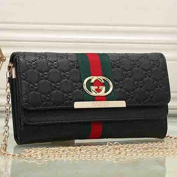 Perfect Gucci Women Leather Shopping Bag Chain Shoulder Bag Satchel Crossbody