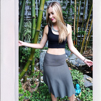 Bad Gal Skirt- Charcoal