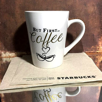 But First.. Coffee Bling Rhinestone Coffee Cup