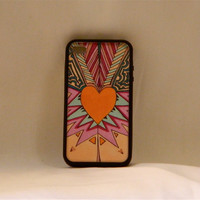 New Mexico Heart Beat, Iphone case, Iphone cover, Iphone 4/4s, southwestern, hipster, hippie, tribal, heart, aztec, changeable