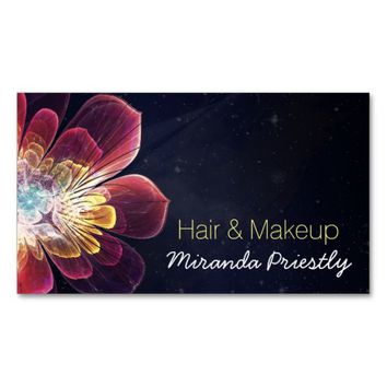 Makeup Artist Hair Stylist Flower Appointment Business Card