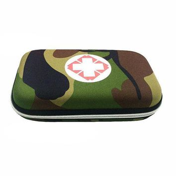 ONETOW Empty Military, Camouflage First Aid Box Portable Emergency Bag Medicine Box Vehicle Mounted Medical Package Travel Package