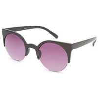 Full Tilt Purrfect Cateye Sunglasses Black One Size For Women 23131210001