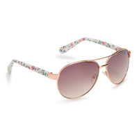 Floral Aviator Sunglasses -
