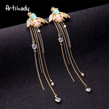 Stylish Crystal insect drop earring for women
