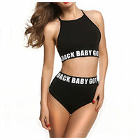 Sports Fashion High Waist Women Bikini Swimsuit