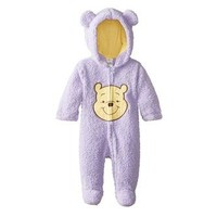 Disney Disney Winnie the Pooh Infant Girls Purple Faux Shearling Snowsuit Baby Pram