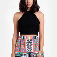 Resort Scarf Print Shorts By Ladakh