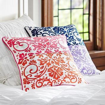 Calypso Crewel Pillow Cover