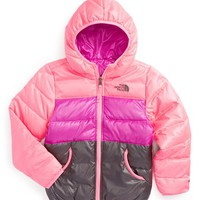 The North Face Girl's 'Moondoggy' Reversible Down Jacket,