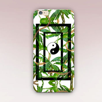 Tropical Yin-Yang Phone Case- iPhone 6 Case- iPhone 5 Case - iPhone 4 Case - Samsung S4 Case - iPhone 5C - Tough Case - Matte Case - Samsung