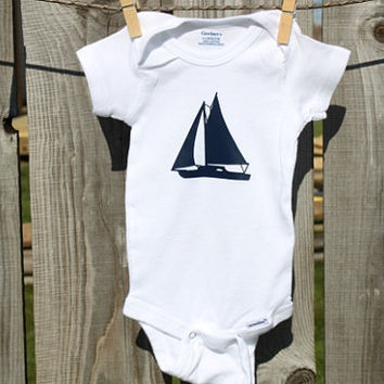 Sailboat Nautical Onesuits®, Nautical Baby Shower