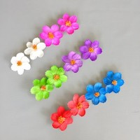 Hawaiian Hibiscus Flower Hair Clips For Luau Party Favor Hawaiian Party Decoration - 12 pcs