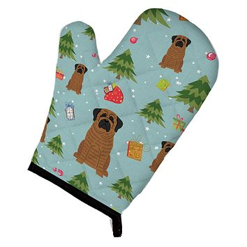 Christmas Mastiff Brindle Oven Mitt BB4675OVMT