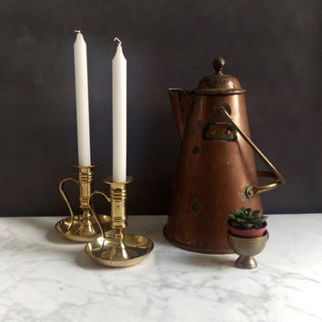 Brass Candlesticks/ Vintage Brass Candlesticks/ Pair of brass candlesticks/ Brass Candle holders
