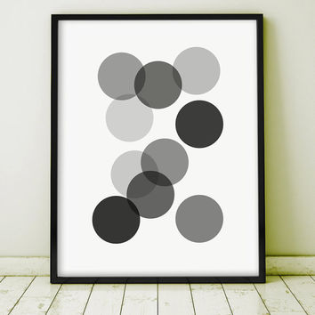 GICLEE PRINT Abstract Geometric Art Minimalist  Art Print Home Decor Screenprint Gallery Wall Kunst Graphics Simple Scandinavian Style Arte