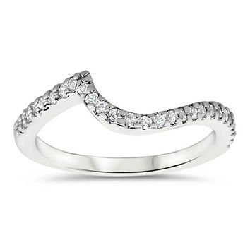 Bypass Wedding Band - Whirlwind Band (Engagement Ring Not Included)