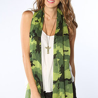 The Camo Scarf in Olive
