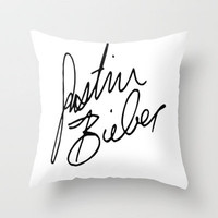 Justin Bieber Throw Pillow by Sjaefashion | Society6