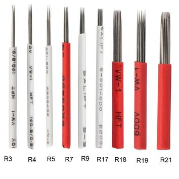 10pcs Round Microblading Needles Manual Needles for Fog Eyebrow Microblading Round Needles for Permanent Makeup