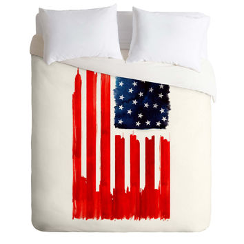 Robert Farkas Stars And Stripes Duvet Cover