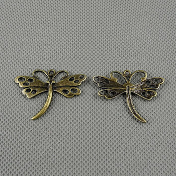 2x Making Jewellery Supply Supplies Antique schmuckset Jewelry Findings Charms Schmuckteile Charme 4-A2877 Little Dragonfly