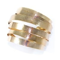 Kenneth Jay Lane Slinky Gold Arm Band Cuff
