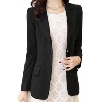 2014 Womens New Arrival Slim Fit Blazers Korean Ladies Fashion Jackets Spring Outerwear
