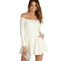 Sale-ivory Love Story Skater Dress
