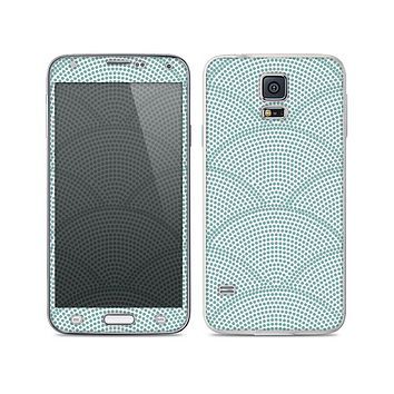 The Teal Circle Polka Pattern Skin For the Samsung Galaxy S5