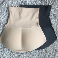 Charming Female Panties Women High Waist Abundant Buttocks Pants Ladies Padded Model Bottom Body Solid Underwear T26-13
