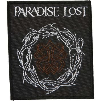 Paradise Lost Men's Crown Of Thorns Woven Patch Black