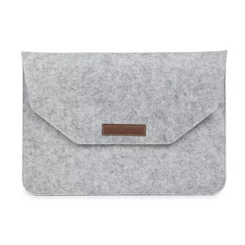 Luxury Universal Laptop Wool Felt Sleeve Bag Case Cover For Macbook 11/12/13/15 Mac Book Air Pro Retina
