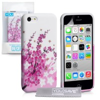 Yousave iPhone 5C Case Floral Bee Silicone Gel Cover