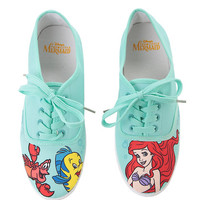 Disney The Little Mermaid Mint Character Lace-Up Sneakers