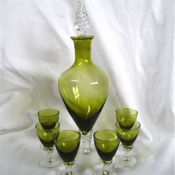 Vintage Cordial Decanter Set