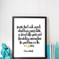 Blair Waldorf crazy Love Quote Digital Print