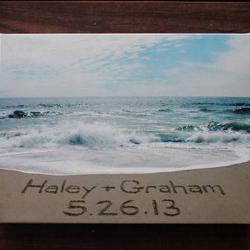Personalized canvas with writing