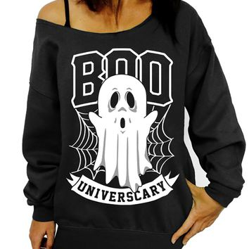 Ghost Sweatshirt, Halloween Sweater, Boo Universcary, Slouchy Sweatshirt