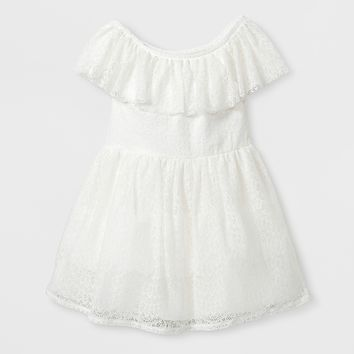 Toddler Girls' A-Line Dress - Genuine Kids® from OshKosh Almond Cream