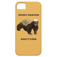 Beeswax Color Honey Badger Dont Care iPhone 5 Cover from Zazzle.com